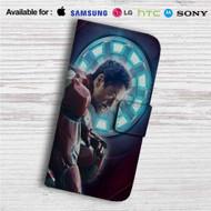Tony Stark Iron Man Marvel Custom Leather Wallet iPhone 4/4S 5S/C 6/6S Plus 7  Samsung Galaxy S4 S5 S6 S7 Note 3 4 5  LG G2 G3 G4  Motorola Moto X X2 Nexus 6  Sony Z3 Z4 Mini  HTC ONE X M7 M8 M9 Case
