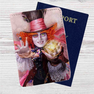 Alice Through the Looking Glass Custom Leather Passport Wallet Case Cover