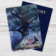 Classic The Jungle Book Custom Leather Passport Wallet Case Cover