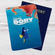 Finding Dory Disney Custom Leather Passport Wallet Case Cover