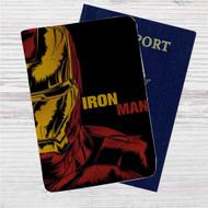 Iron Man Marvel Custom Leather Passport Wallet Case Cover