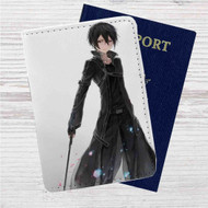 Kirito Sword Art Online Custom Leather Passport Wallet Case Cover