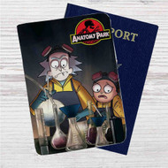 Rick and Morty Anatomy Park Custom Leather Passport Wallet Case Cover