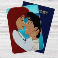 Ariel and Eric Love Disney Custom Leather Passport Wallet Case Cover