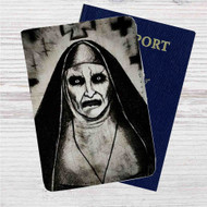 Demon Nun The Conjuring 2 Custom Leather Passport Wallet Case Cover