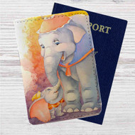 Dumbo Classic Disney Custom Leather Passport Wallet Case Cover