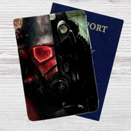 Fallout New Vegas Custom Leather Passport Wallet Case Cover