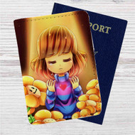 Frisk and Flowley Undertale Custom Leather Passport Wallet Case Cover