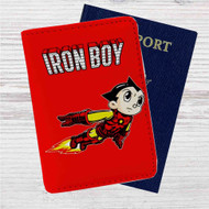 Iron Boy Iron Man Astroboy Custom Leather Passport Wallet Case Cover
