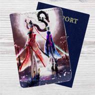Jeanne Bayonetta Custom Leather Passport Wallet Case Cover