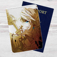 Link The Legend of Zelda Twilight Princess Custom Leather Passport Wallet Case Cover