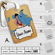 Aladdin and the Genie Disney Custom Leather Luggage Tag