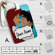 Ariel and Eric Love Disney Custom Leather Luggage Tag