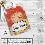 Ariel and Flounder The Little Mermaid Custom Leather Luggage Tag