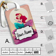 Ariel Mermaid After Eat Custom Leather Luggage Tag