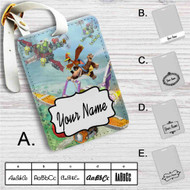 Banjo-Kazooie Nuts and Bolts Custom Leather Luggage Tag