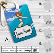 Daphne Scooby Doo Surf Custom Leather Luggage Tag