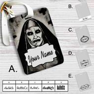 Demon Nun The Conjuring 2 Custom Leather Luggage Tag