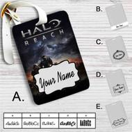 Halo Reach Custom Leather Luggage Tag