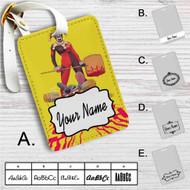 Harley Quinn and Stitch Custom Leather Luggage Tag