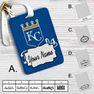 Kansas City Royals Custom Leather Luggage Tag