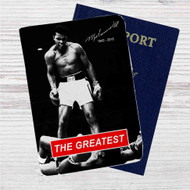 Muhammad Ali 1942 - 2016 Custom Leather Passport Wallet Case Cover