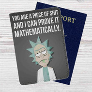 Rick Quotes Rick and Morty Custom Leather Passport Wallet Case Cover