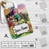 Mowgli and His Friends Custom Leather Luggage Tag