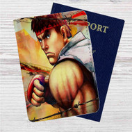 Ryu Ultra Super Street Fighter IV Custom Leather Passport Wallet Case Cover