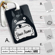 My Neighbor Totoro Custom Leather Luggage Tag