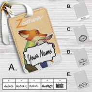 Nick and Judy Zootopia Custom Leather Luggage Tag