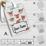 Nick Wilde Face Collage Zootopia Custom Leather Luggage Tag