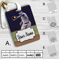 Omar Infante Kansas City Royals Custom Leather Luggage Tag