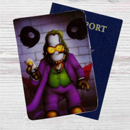 Simpsons Joker Custom Leather Passport Wallet Case Cover