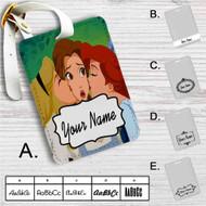 Princess Aurora Ariel and Belle Disney Custom Leather Luggage Tag
