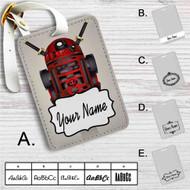 R2D2 Deadpool Custom Leather Luggage Tag