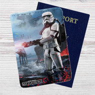 Star Wars Battlefront Custom Leather Passport Wallet Case Cover