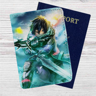 Sword Art Online Kirito Custom Leather Passport Wallet Case Cover