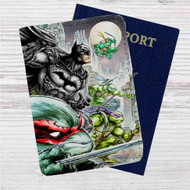 Teenage Mutant Ninja Turtles and Batman Custom Leather Passport Wallet Case Cover