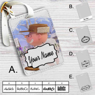 Snoopy and Charlie Brown The Peanuts Movie Custom Leather Luggage Tag