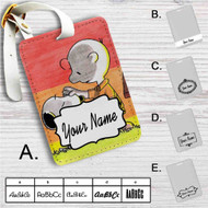 Snoopy and Charlie Brown Custom Leather Luggage Tag