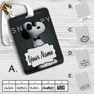 Snoopy Custom Leather Luggage Tag