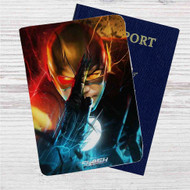 The Flash Custom Leather Passport Wallet Case Cover