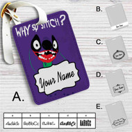 Stitch Joker Batman Custom Leather Luggage Tag
