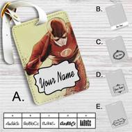 The Flash Art Custom Leather Luggage Tag