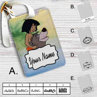 The Jungle Book Baloo and Mowgli Custom Leather Luggage Tag