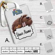 The Secret Life of Pets Movie Custom Leather Luggage Tag
