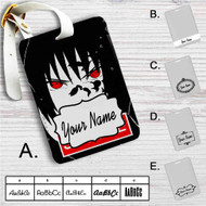 Uchiha Sasuke Face Naruto Shippuden Custom Leather Luggage Tag