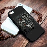 drones muse lyric on your case iphone 4 4s 5 5s 5c 6 6plus 7 case / cases