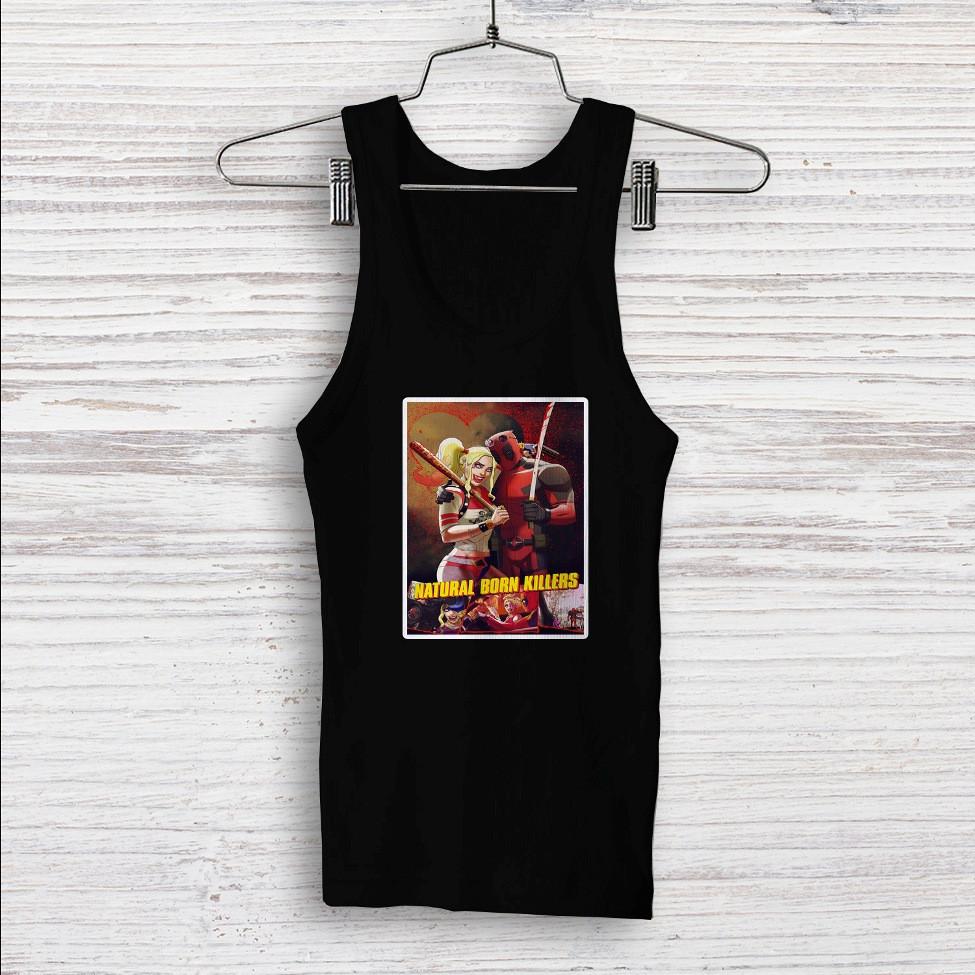 99221e4239ecdc ... Natural Born Killers Deadpool Harley Quinn Custom Men Woman Tank Top T  Shirt Shirt. Image 1